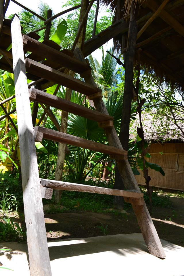 Slapen in een boomhut in Cambodja