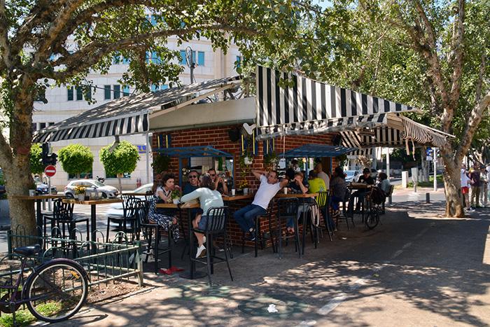 Koffietentjes in Tel Aviv