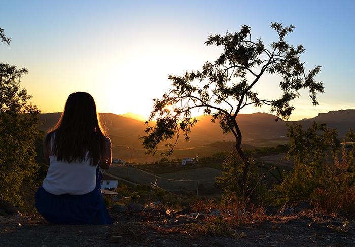 Zonsondergang Andalusie